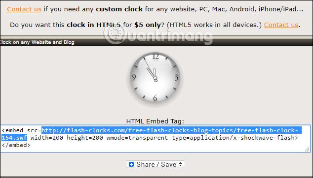 Sao chép mã HTML