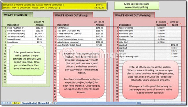 7 template Excel miễn phí giúp quản lý ngân sách - Ảnh minh hoạ 6