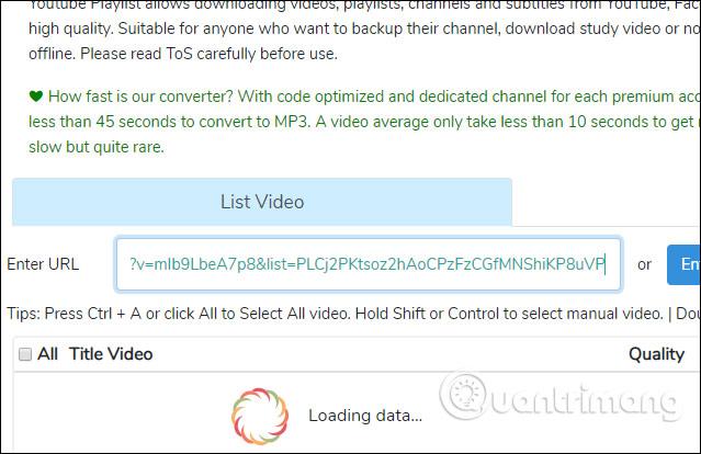 YouTubePlaylist.cc tải video
