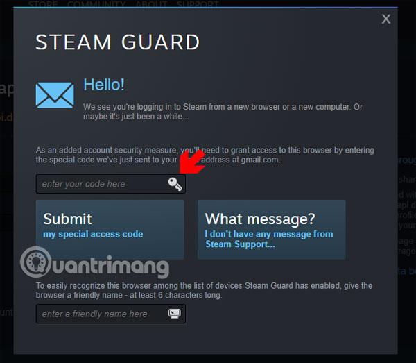 Mã xác nhận Steam