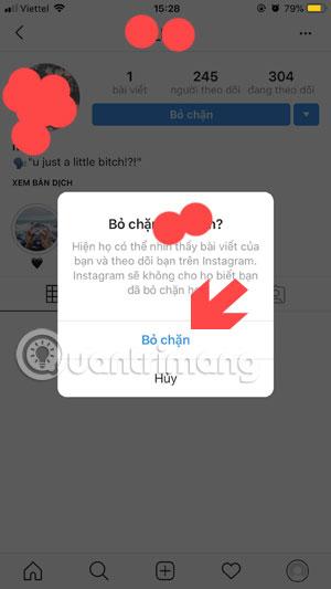Cách chặn và bỏ chặn người dùng trên Instagram - Ảnh minh hoạ 5