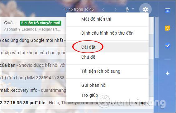 Cài đặt Gmail