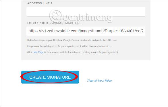 Tạo chữ ký trực tuyến