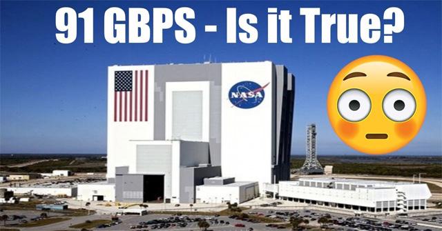 Liệu tốc độ Internet ở NASA có đạt được tới mức 91Gb/s?