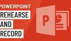 Diễn tập và ghi lại bài thuyết trình trong PowerPoint 2016