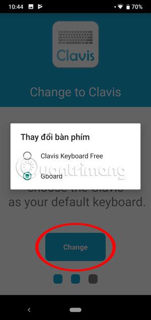 Chọn bàn phím Clavis