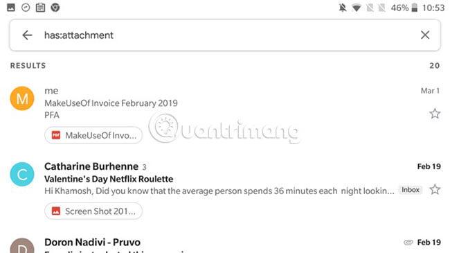 Tìm kiếm trong Gmail