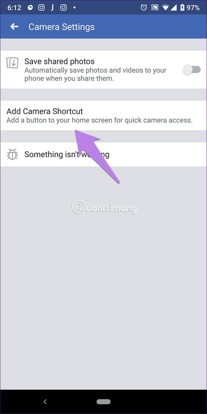 Add Camera Shortcut