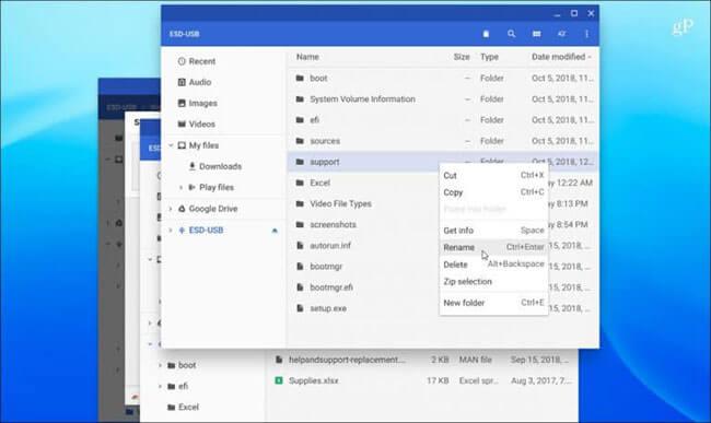 Chọn ổ đĩa cần mở và thao tác giống như những gì bạn làm với các hệ thống quản lý file khác