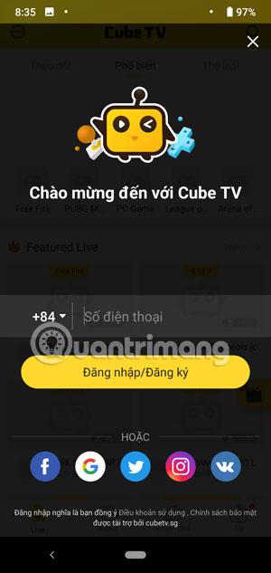 Cách Livestream game trên điện thoại với CubeTV