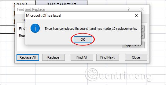 Cách xóa dấu chấm trong dãy số trên Excel - Ảnh minh hoạ 3