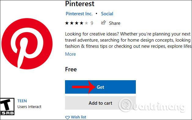 Cách dùng ứng dụng Pinterest trên Windows 10