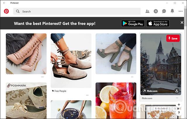 Cách dùng ứng dụng Pinterest trên Windows 10 - Ảnh minh hoạ 5