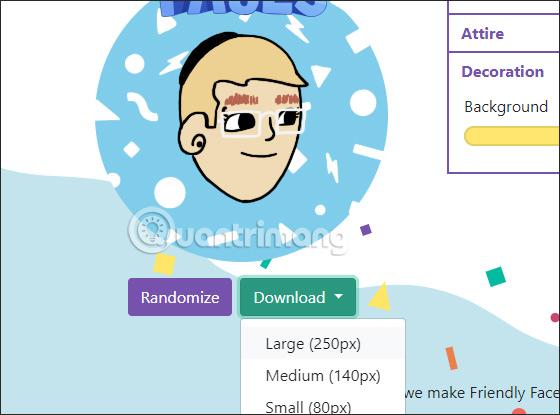 Chọn kích thước avatar