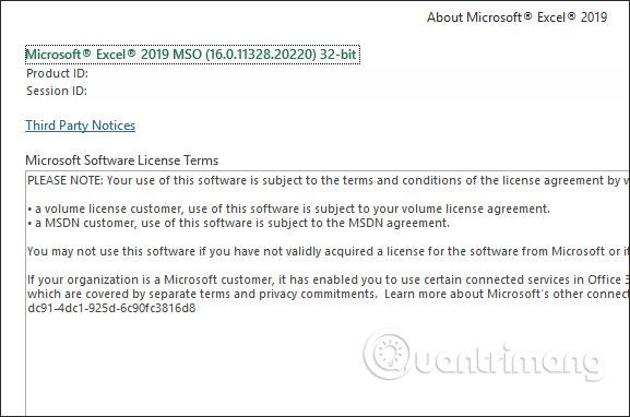 Cách kiểm tra phiên bản Excel đang sử dụng - Ảnh minh hoạ 11