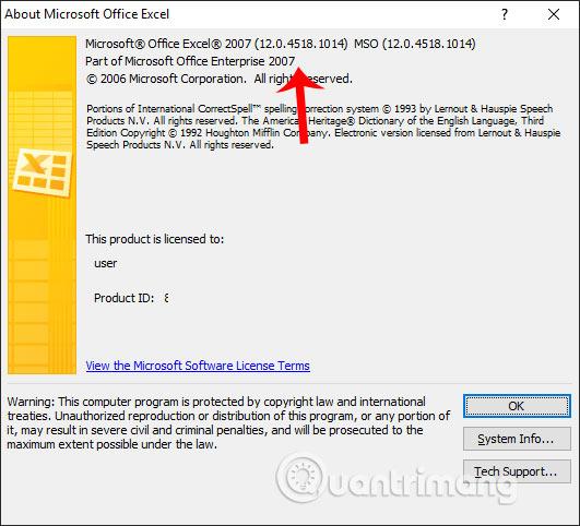 Cách kiểm tra phiên bản Excel đang sử dụng - Ảnh minh hoạ 6