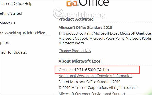 Cách kiểm tra phiên bản Excel đang sử dụng - Ảnh minh hoạ 8
