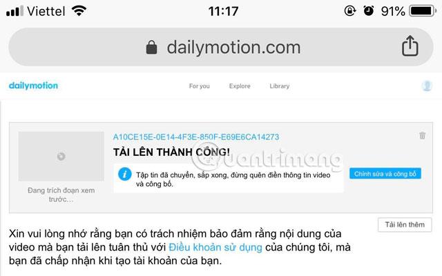 Hướng dẫn up video lên Dailymotion trên điện thoại - Ảnh minh hoạ 18