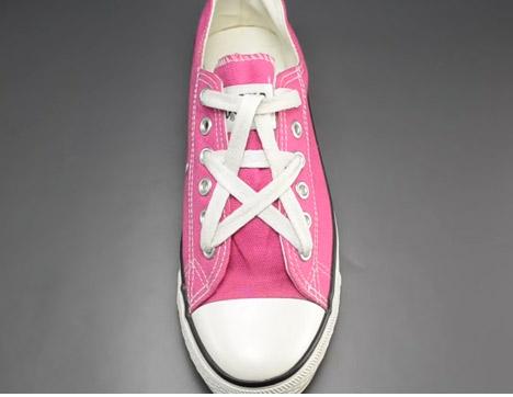 Cách buộc dây giày kiểu ngôi sao