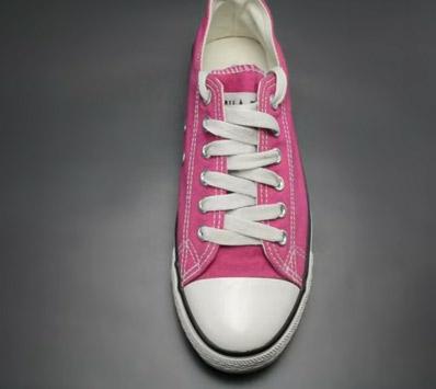 Cách buộc dây giày kiểu zigzag