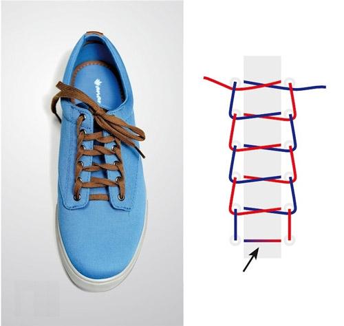 Thắt dây giày kiểu ruộng bậc thang