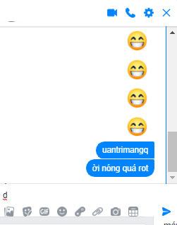 Lỗi chữ nhảy loạn xạ trên Messenger 2