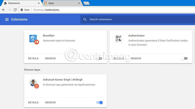 Trình duyệt sẽ cài đặt ứng dụng của trang web