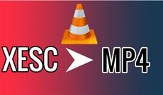 Cách đổi đuôi file XESC thành MP4 bằng VLC
