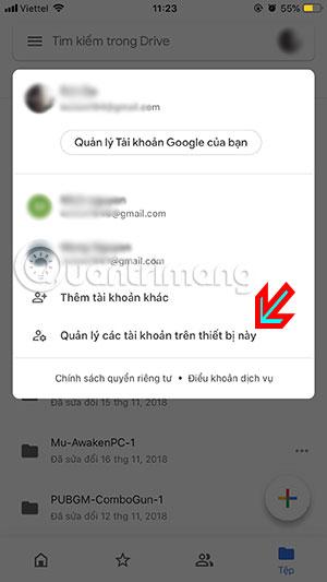 Quản lý tài khoản Google Drive