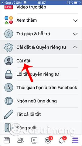 Cài đặt Facebook