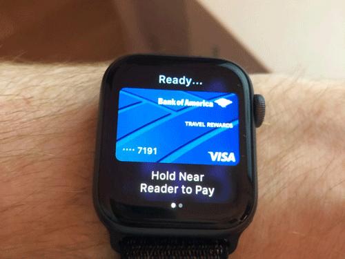 Thanh toán hàng hóa với Apple Watch