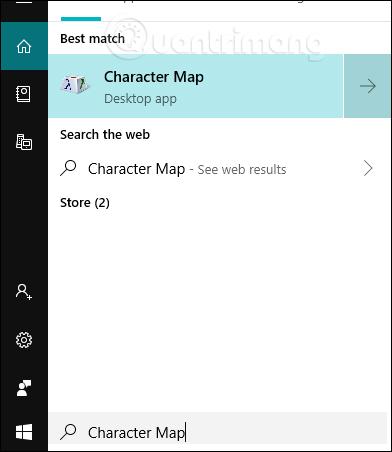 Tìm Character Map