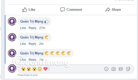 Gõ biểu tượng vào Status Facebook
