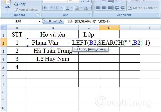 Hàm LEFT, cách dùng hàm cắt chuỗi ký tự bên trái trong Excel - Ảnh minh hoạ 4