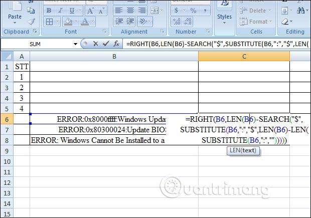 Hàm RIGHT, cách dùng hàm cắt chuỗi ký tự bên phải trong Excel - Ảnh minh hoạ 8