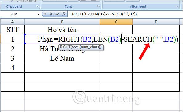 Hàm RIGHT, cách dùng hàm cắt chuỗi ký tự bên phải trong Excel - Ảnh minh hoạ 4