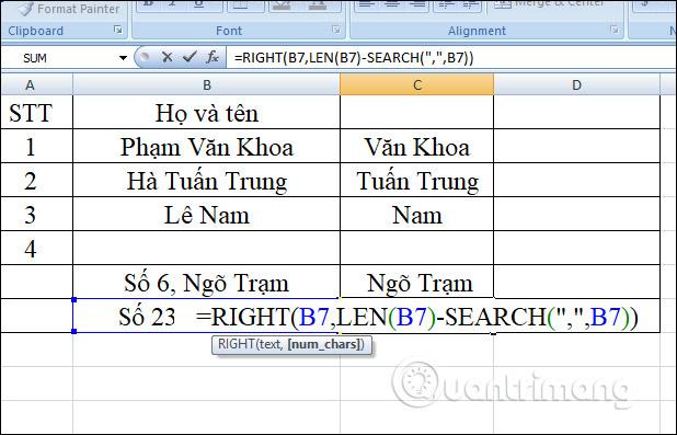 Hàm RIGHT, cách dùng hàm cắt chuỗi ký tự bên phải trong Excel - Ảnh minh hoạ 6