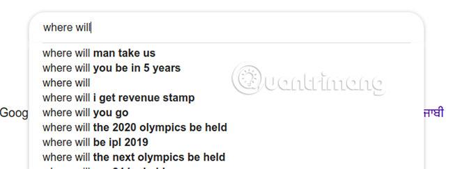 Nhập gì vào Google