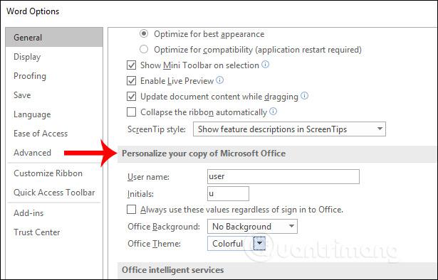 Cách thay đổi giao diện Microsoft Office - Ảnh minh hoạ 3