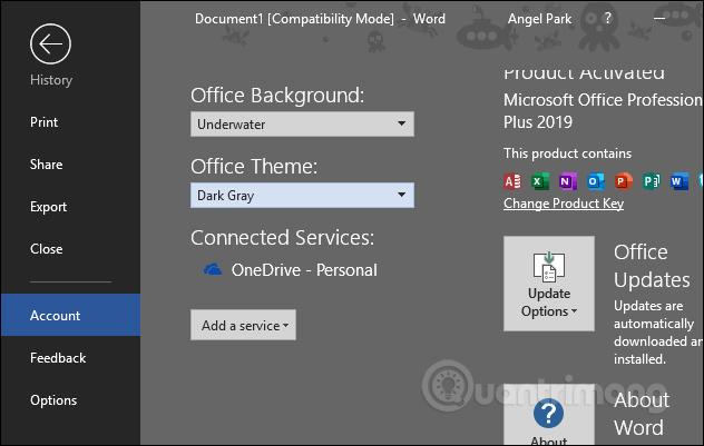Cách thay đổi giao diện Microsoft Office - Ảnh minh hoạ 7