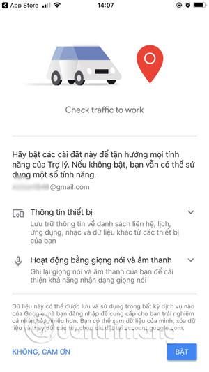 Bật tính năng Google Assistant