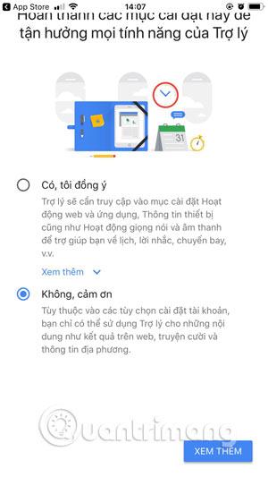 Cho phép trợ lý ảo Google truy cập vào một số cài đặt