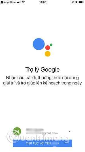 Đăng nhập tài khoản Google Assistant