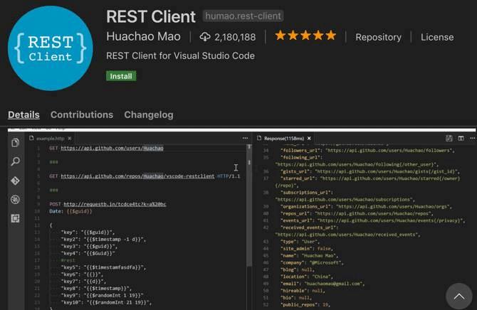 Extension REST Client
