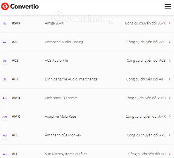 Danh sách file âm thanh