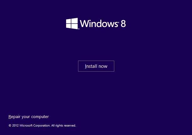 Click vào Repair your computer trên Windows 8