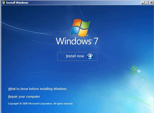 Click vào Repair your computer