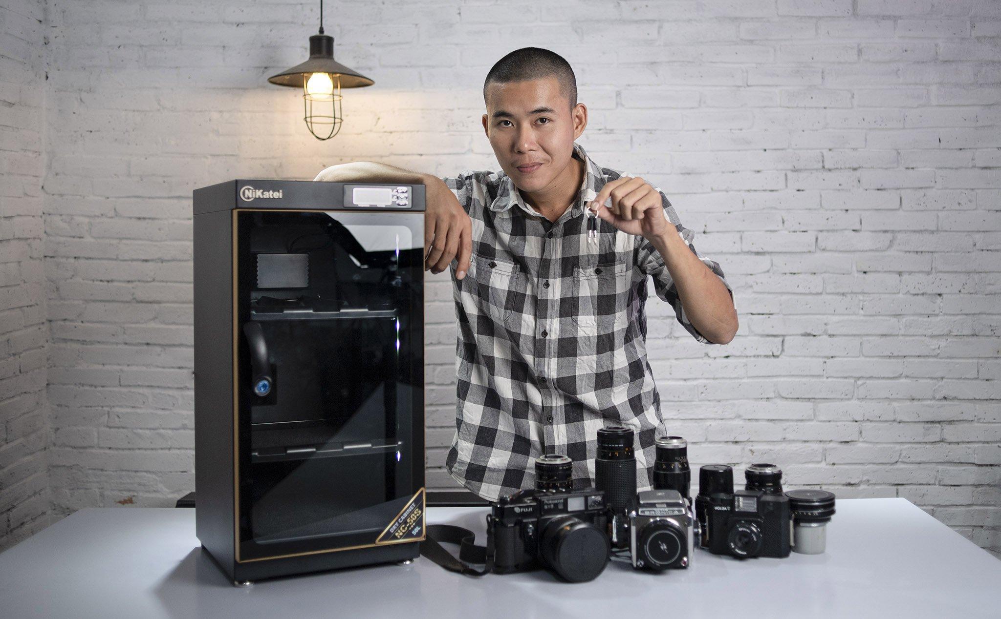 Tủ chống ẩm - thiết bị bảo quản máy ảnh trong môi trường lý tưởng