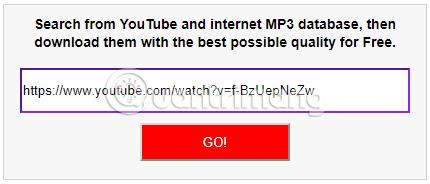 Dán link video và nhấn GO!