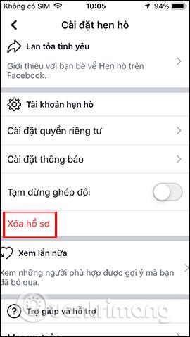 Cách xóa hồ sơ hẹn hò Facebook, tạo Facebook Dating mới - Ảnh minh hoạ 5